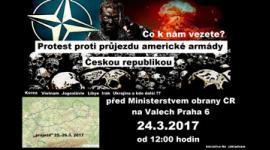 Demonstrace proti průjezdu vojsk NATO ČR